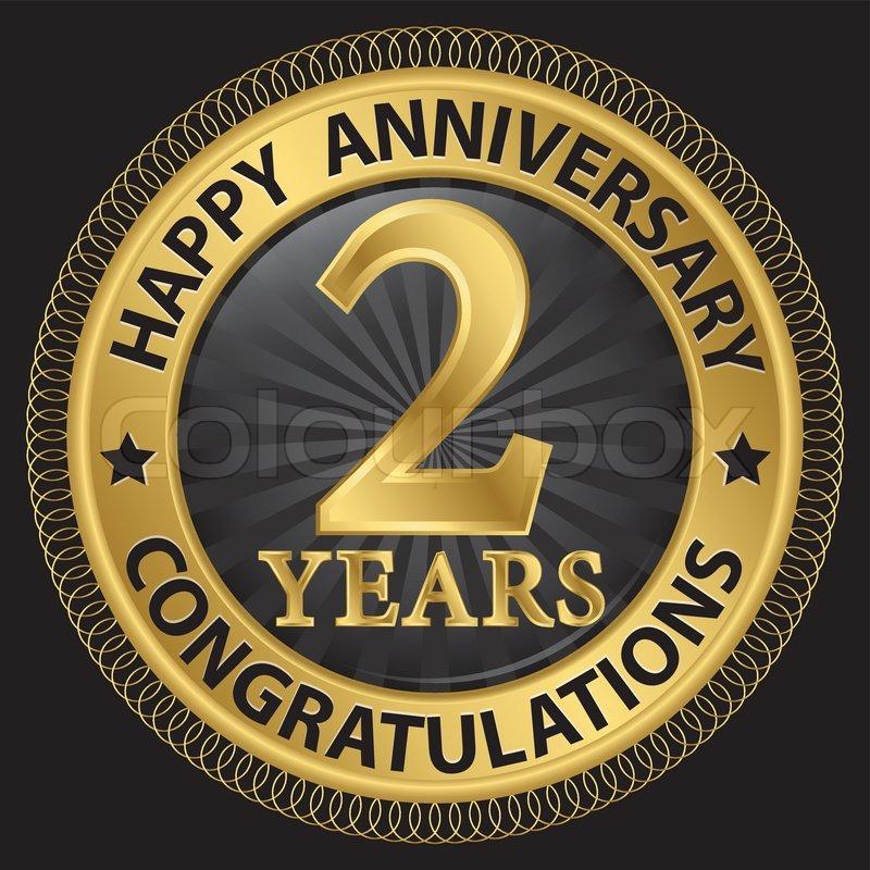 2 Years Happy Anniversary Stock Vector Colourbox