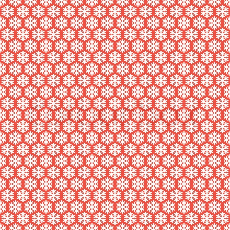 Red Seamless Snowflakes Pattern Vector Snow Background Christmas Best Christmas Pattern Wallpaper