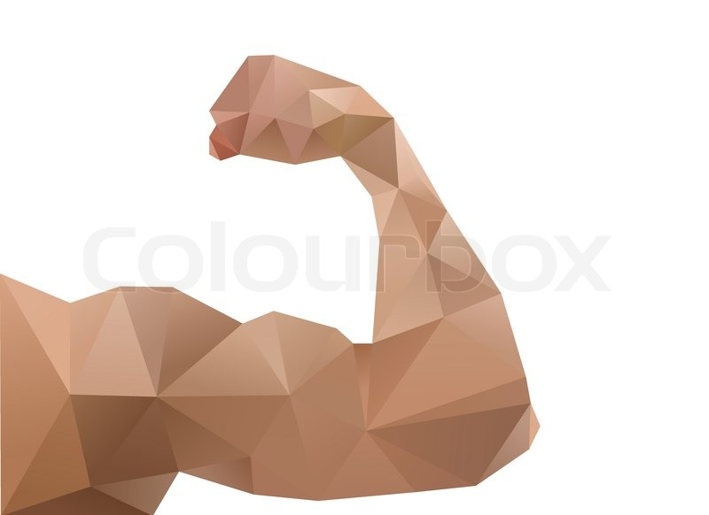 Muscle Woman Abstract Isolated On A White Backgrounds