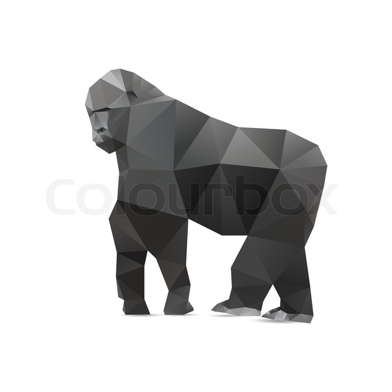 gorilla triangle low polygon style good use for symbol