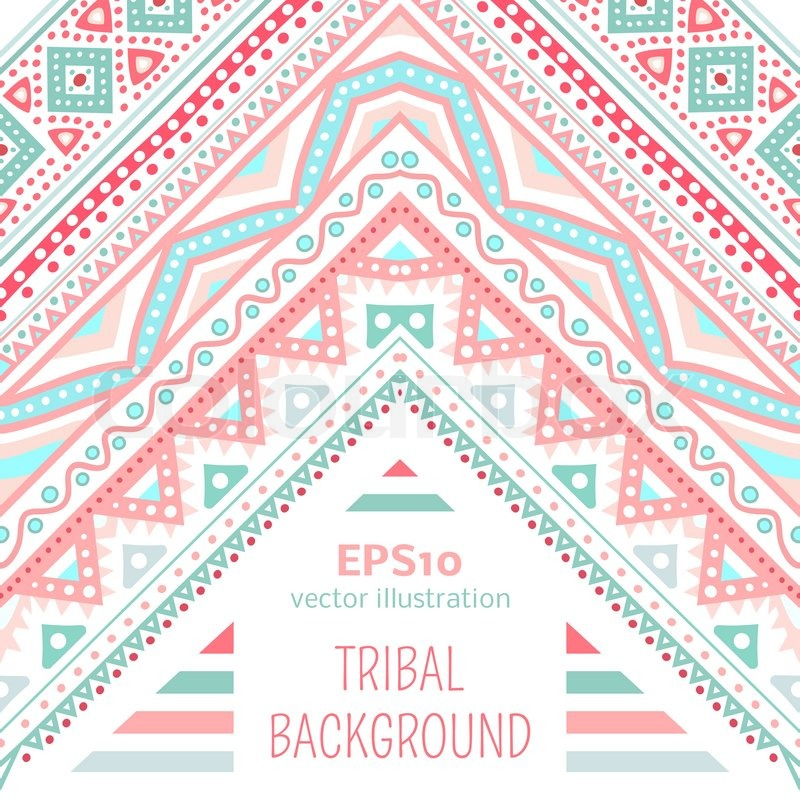 Tribal ethnic corner pattern. Vector illustration for your