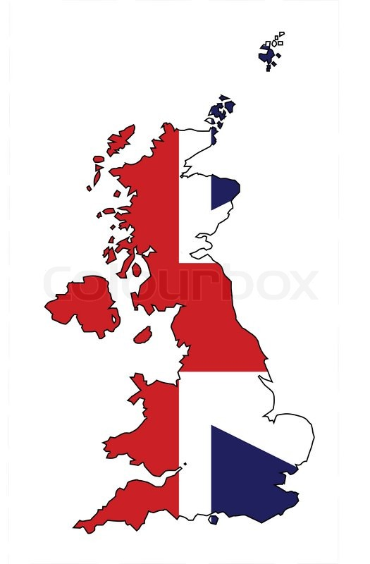Outline Map Of The United Kingdom Of England Scotland Northern - United kingdom map vector