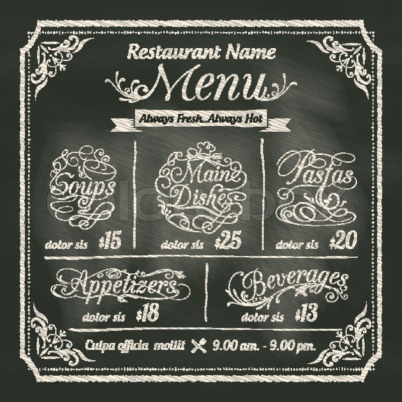 Restaurant Food Menu Design With ...