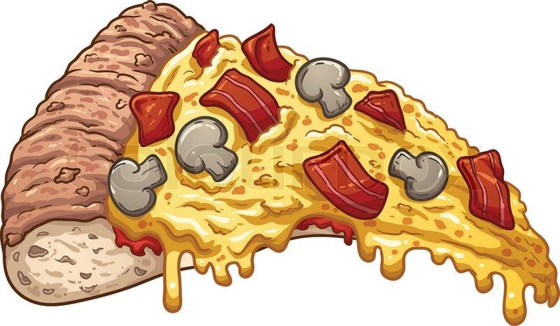 slice of bacon pizza vector clip art illustration with simple rh colourbox com pizza slice vector free download pizza slice vector black and white