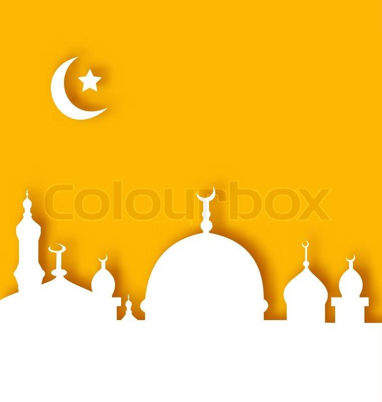 Illustration Islamic architecture background, Ramadan