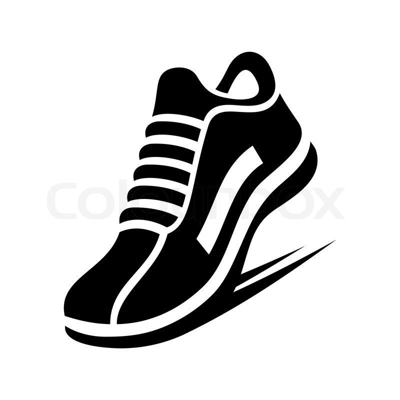 Running Shoe Icon on White Background. Vector illustration ...