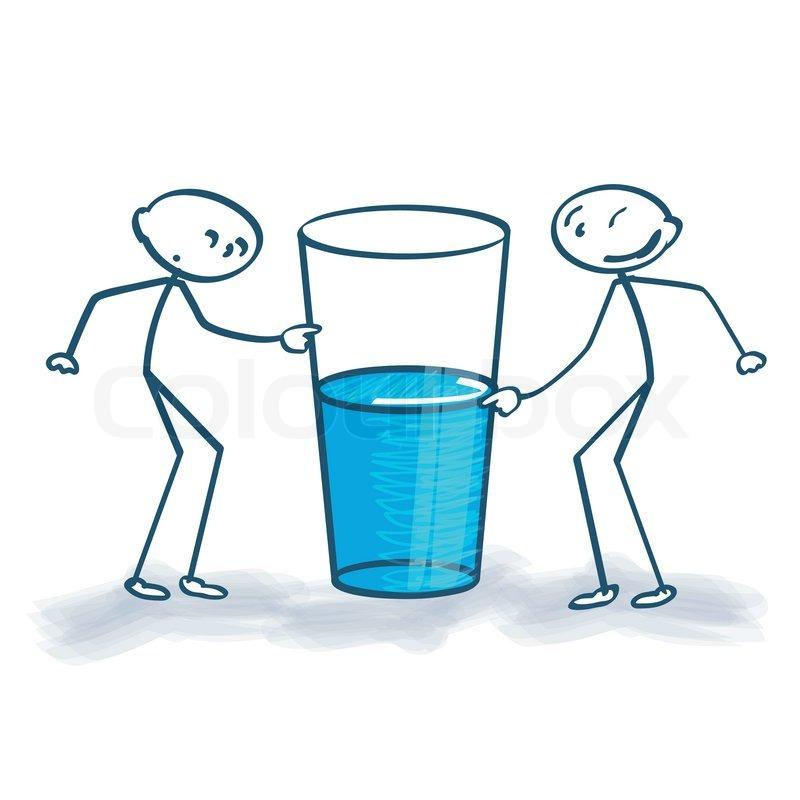 Halb Voll Glas Mit Das Glas Ist Halb Voll