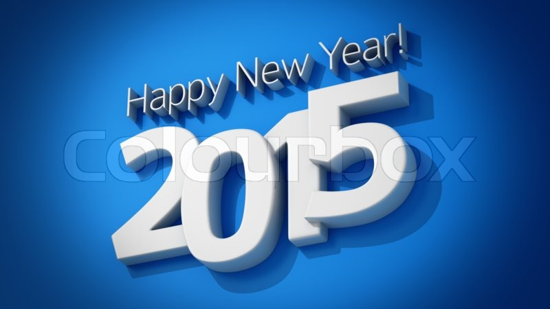 Greeting card with diagonal text happy new year 2015 on the blue greeting card with diagonal text happy new year 2015 on the blue background stock photo m4hsunfo