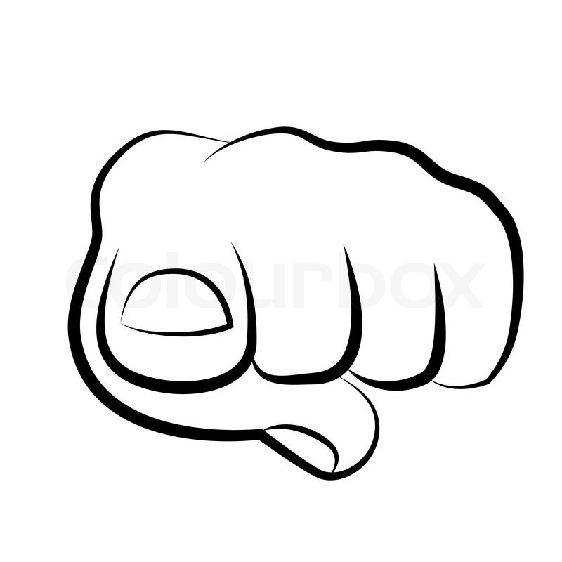 Hand Pointing Finger At Viewer From Front Vector