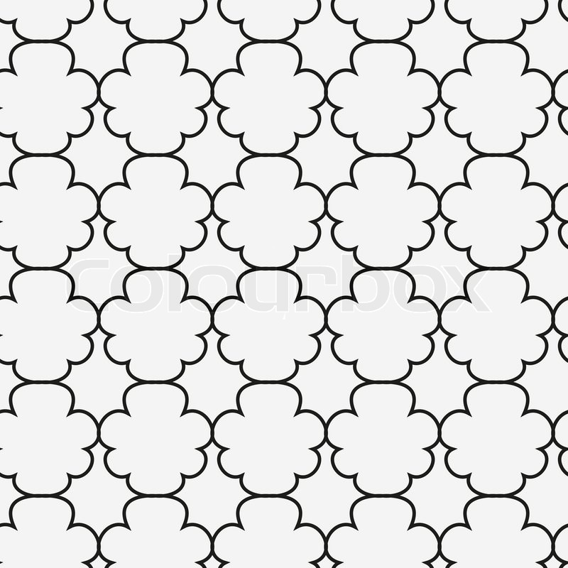 Abstract Islamic Seamless Pattern Vector Illustration For Modern Design Black And White Color