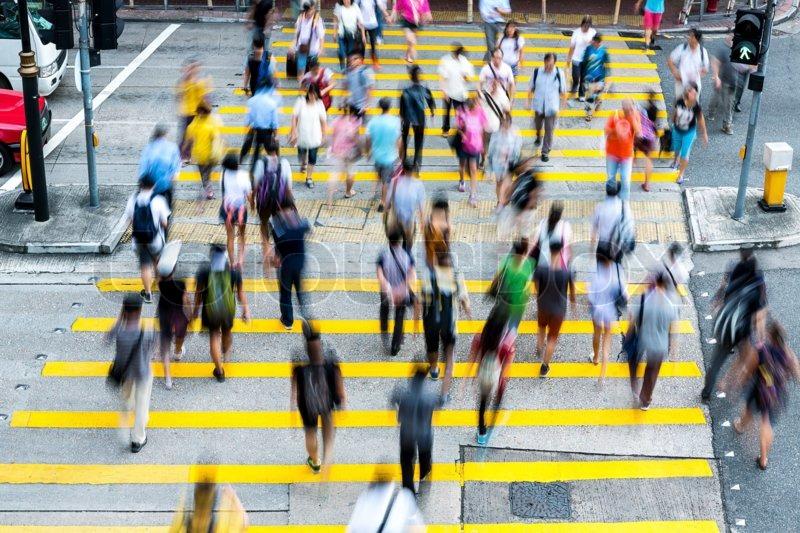 Hong Kong Busy Street, stock photo