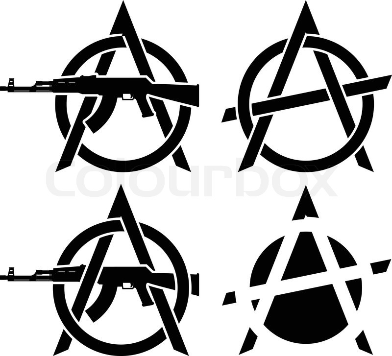 Symbols Of Anarchy Vector Illustration Stock Vector Colourbox