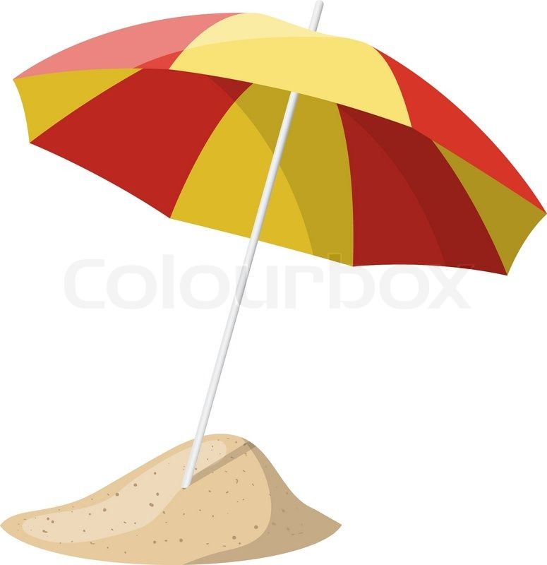 Beach Umbrella To Beach Umbrella Isolated Over White Background Vector Illustration Stock Colourbox