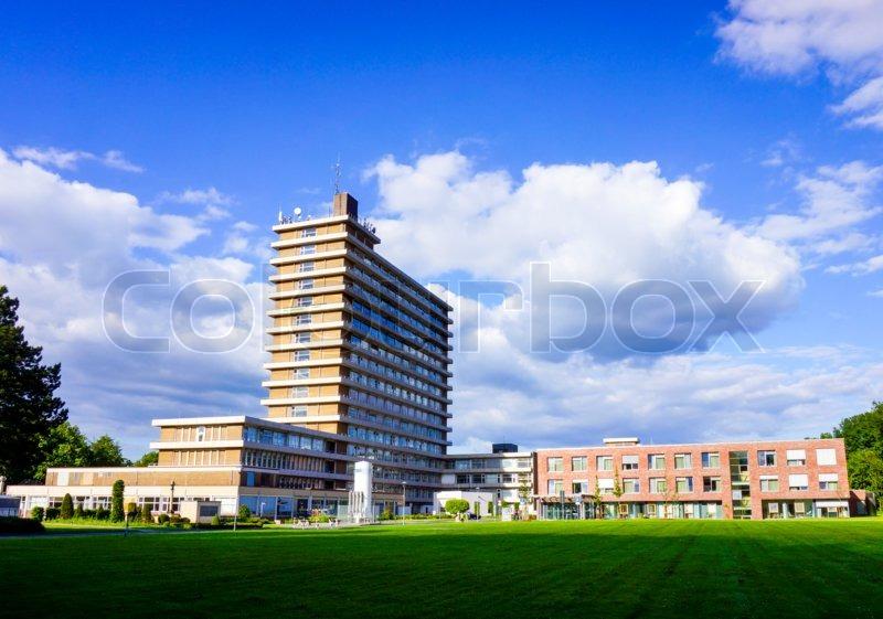 Modern hospital. hospital building. Medical Center, stock photo