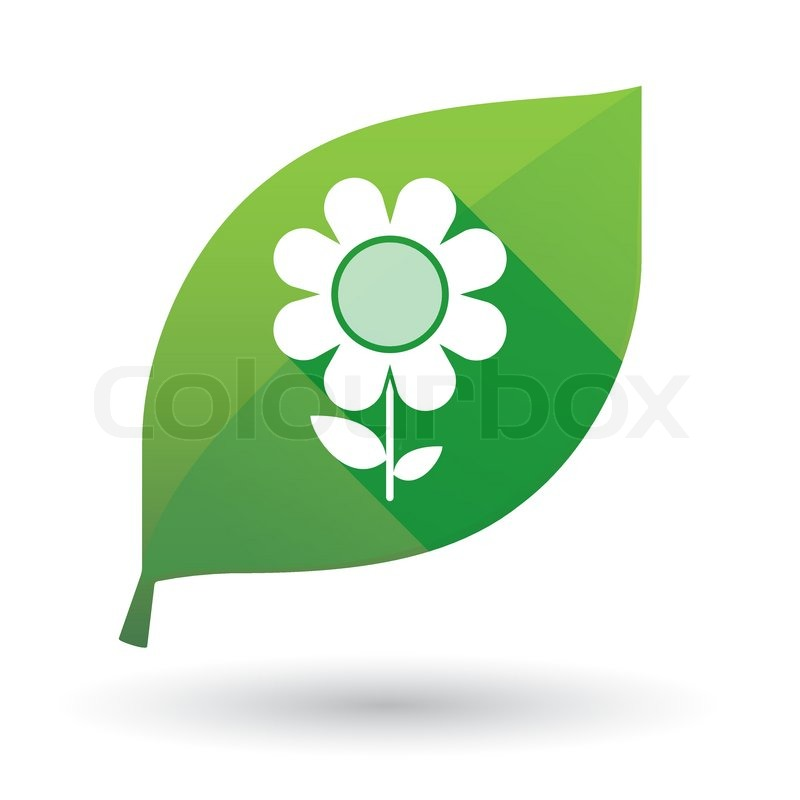 Leaf Icon Leaf Icon With a Flower