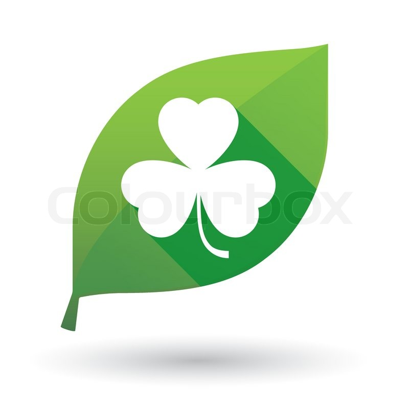 Leaf Icon Leaf Icon With a Clover