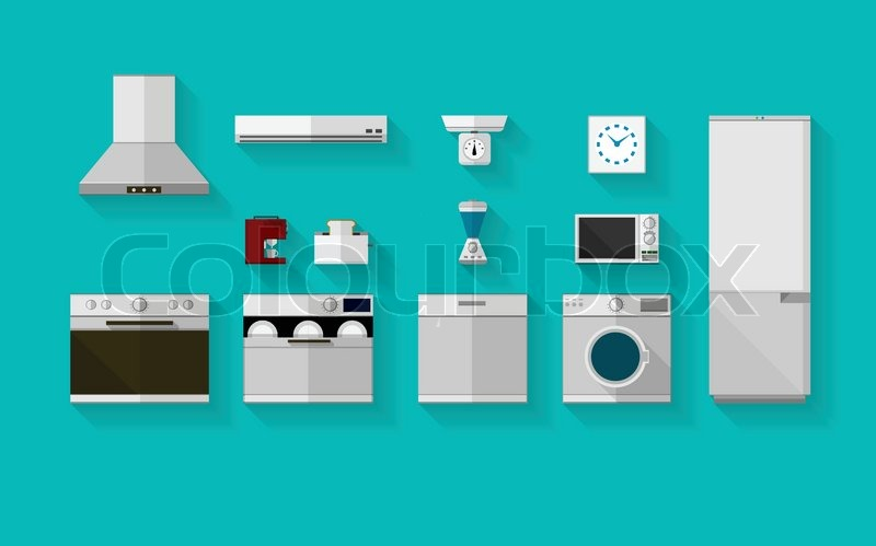 Set Of Gray Flat Vector Icons With Stock Vector
