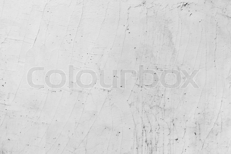 White painted concrete wall with plaster pattern construction