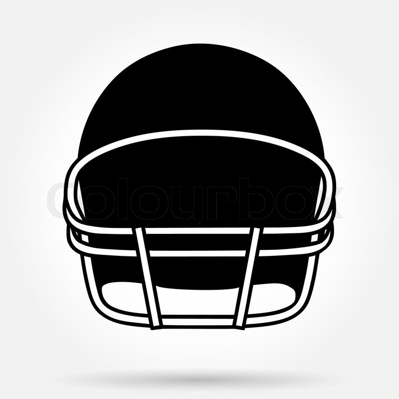 Silhouette symbol of American football helmet. Simple ...