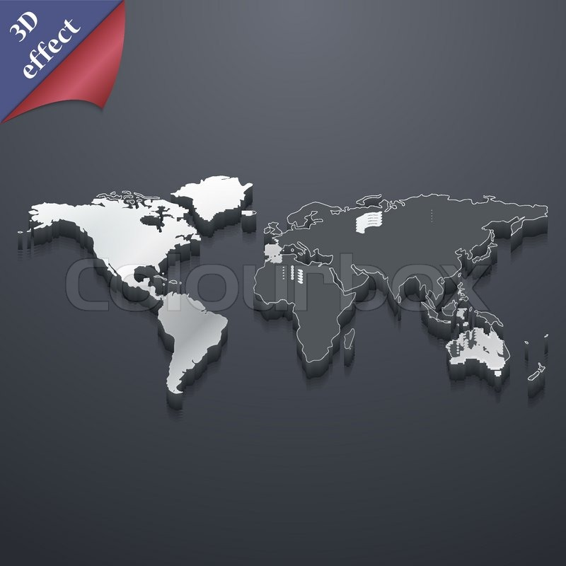 World map icon symbol 3d style trendy modern design with space stock vector of world map icon symbol 3d style trendy modern design gumiabroncs Gallery