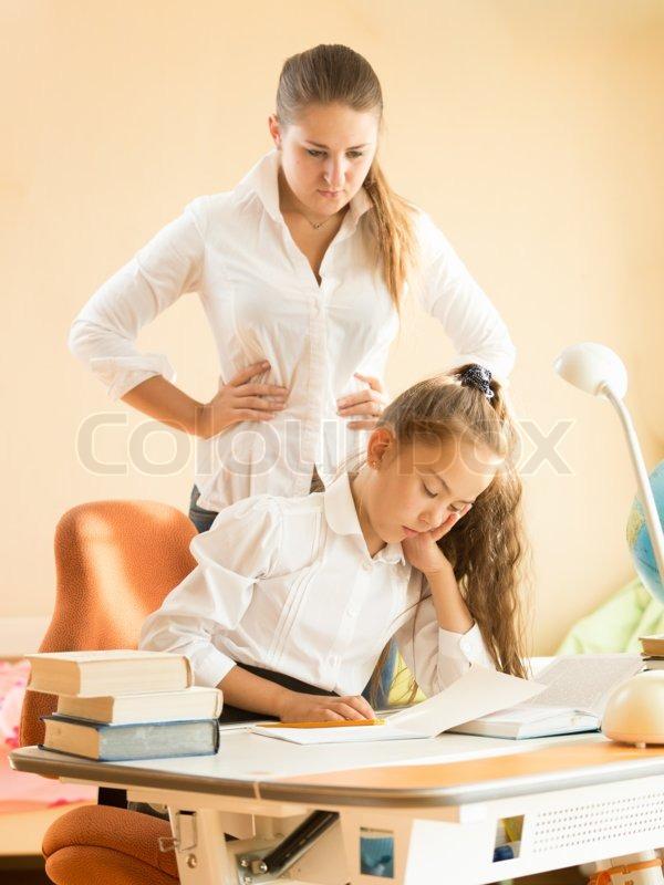 Sleeping While Doing Homework Image - Homework for you