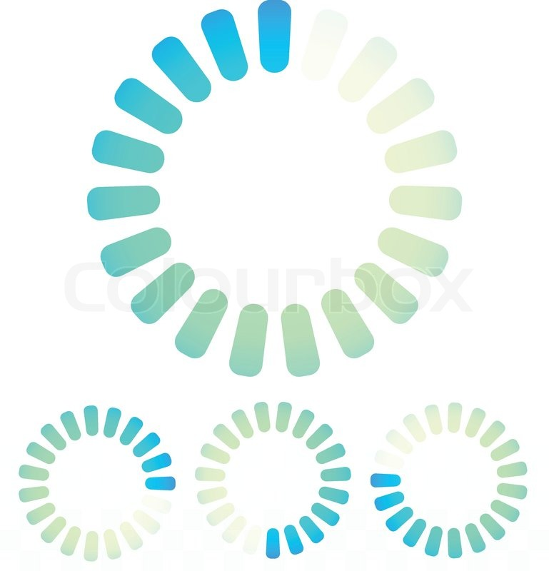 Circular preloader, buffer symbol or general circle emblem, circle ...