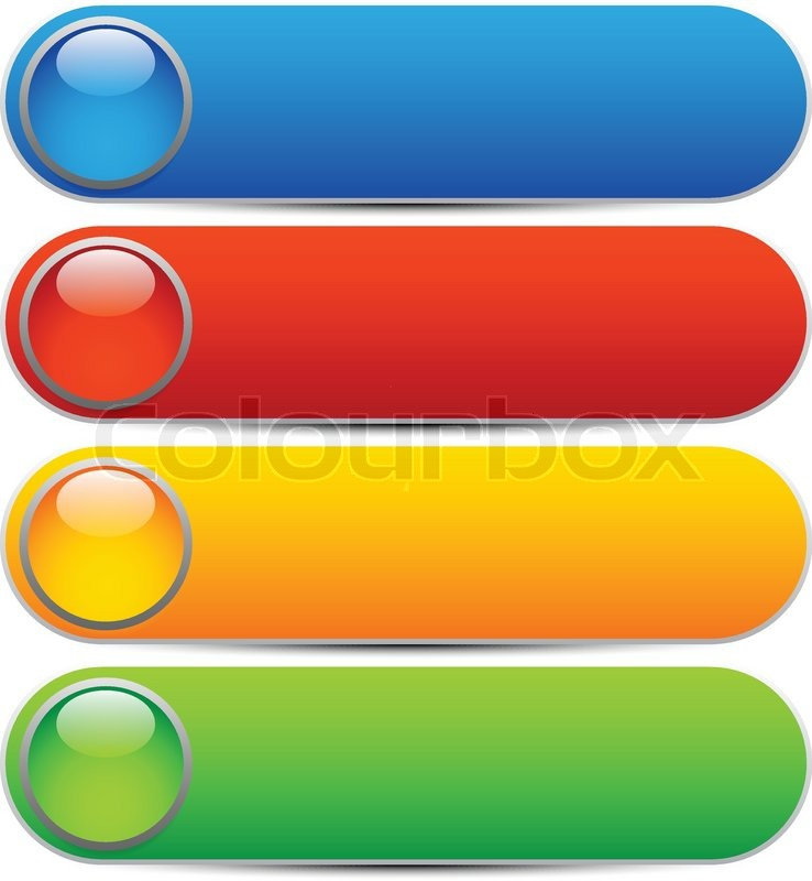 glossy buttons banners rounded rectangle shapes colorful vector design elements blank. Black Bedroom Furniture Sets. Home Design Ideas