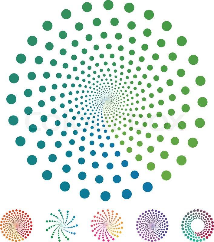 dots pattern vector elements made of circles vector design rh colourbox com Circle Border Clip Art Circle Frame Border Clip Art