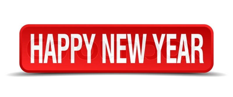 happy new year red 3d square button on white background stock photo colourbox