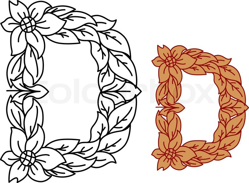 Calligraphic Floral Lower Case Stock Vector Colourbox