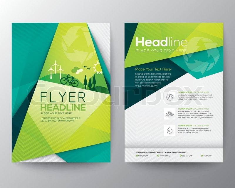 ... u0026#39;Abstract Triangle Brochure Flyer design vector template in A4 size
