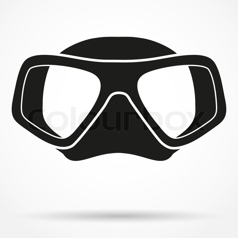 Silhouette Symbol Of Underwater Diving Scuba Mask Front