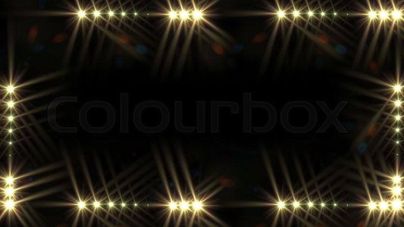 Glow Light Border Concert Lighting Stock Video
