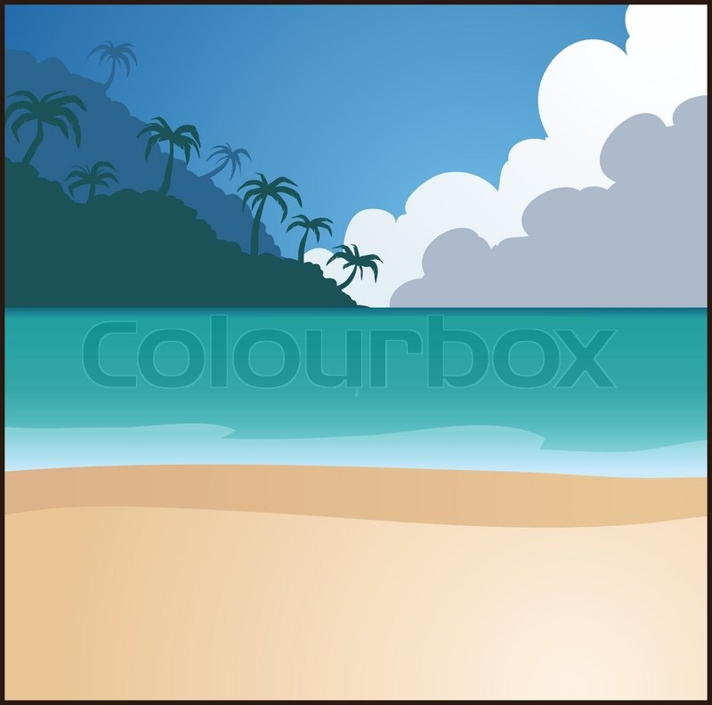 Beach Background Clipart Beach Background Vector Clip