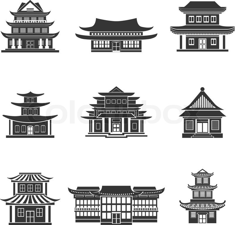 Chinese Temple Vector Chinese House Ancient Temples