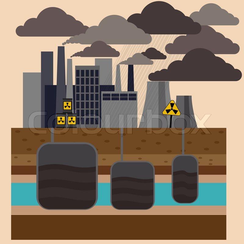 Power Plant Cartoon Power Plant Smokestacks