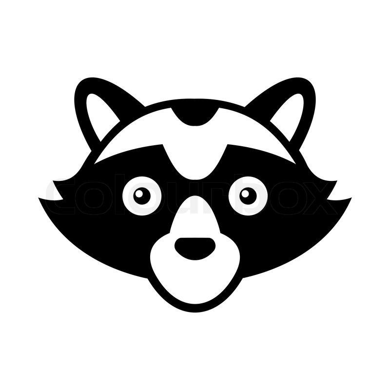 Raccoon Head Logo Style Icon. Vector illustration | Stock ... Raccoon Face Clip Art