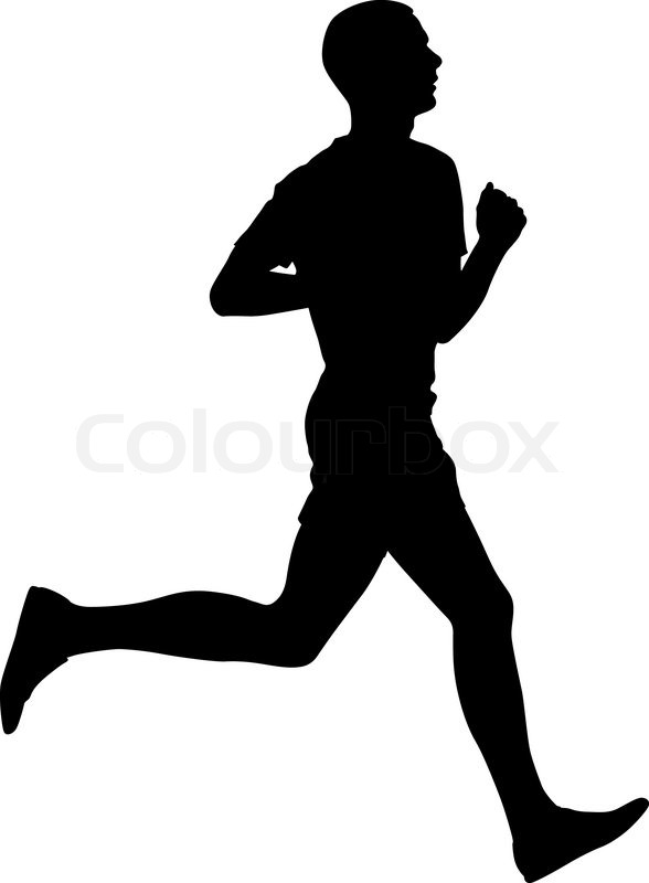 silhouettes runners on sprint men vector illustration stock rh colourbox com marathon runner silhouette vector runner silhouette vector free