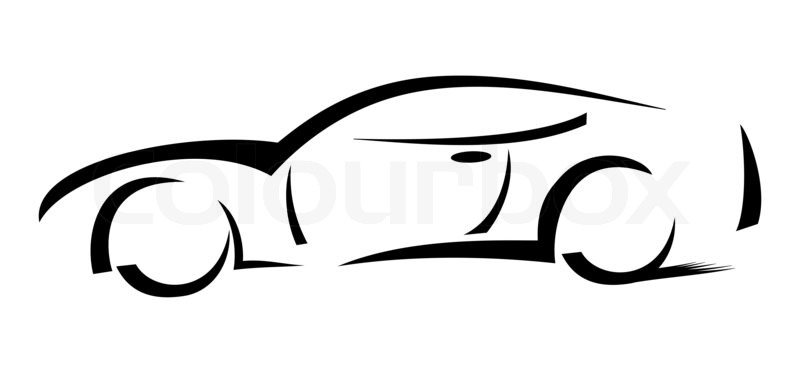 Racing Car Silhouette Illustration Stock Photo Colourbox
