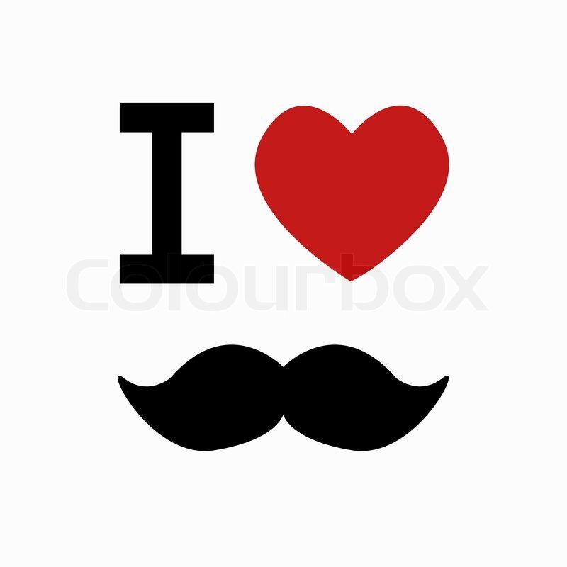 Vector Mustache Simbol On White Background Eps10 Stock