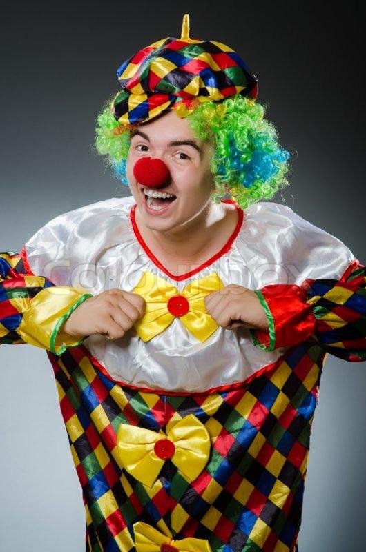 Funny clown in humor concept, stock photo