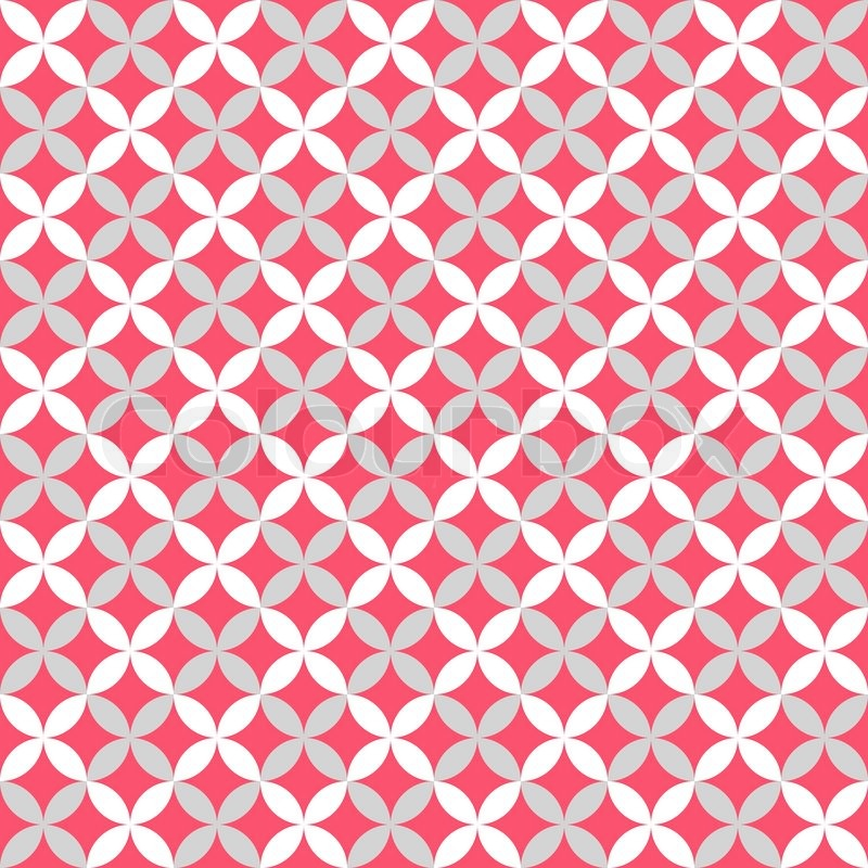 Cute Different Vector Seamless Pattern Pink White And Grey Colors Classy Pink Patterns