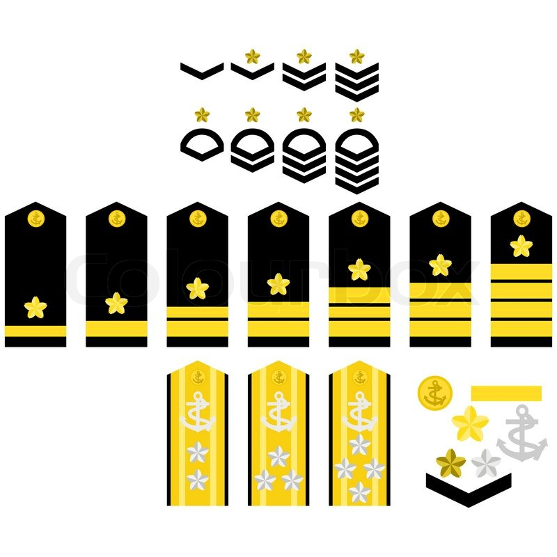 Military Ranks And Insignia Of The World Illustration On