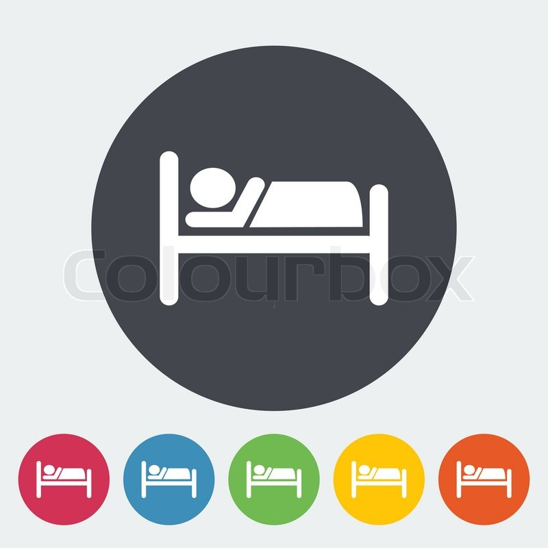 Hotel Bed Icon Single