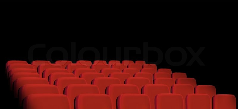 Rows Of Red Cinema Seats On A Black Stock Vector Colourbox
