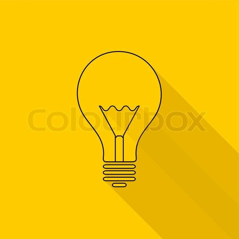 Yellow Light Bulb Icon Light Bulb Icons Yellow
