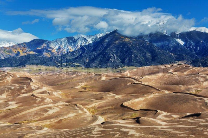 Great Sand Dunes National Park, Colorado,USA, stock photo