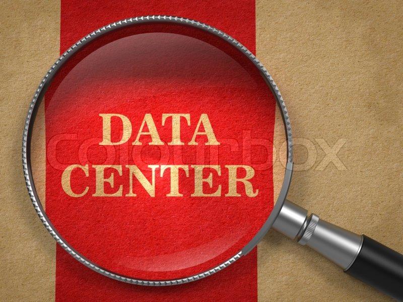 Vertical Data Center Data Center Magnifying Glass