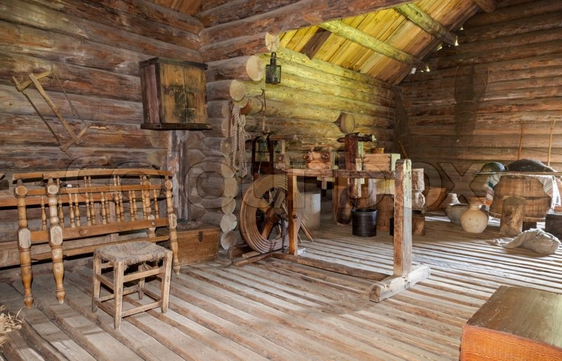 NOVGOROD RUSSIA JULY 23 2014 Interior Of Old Rural