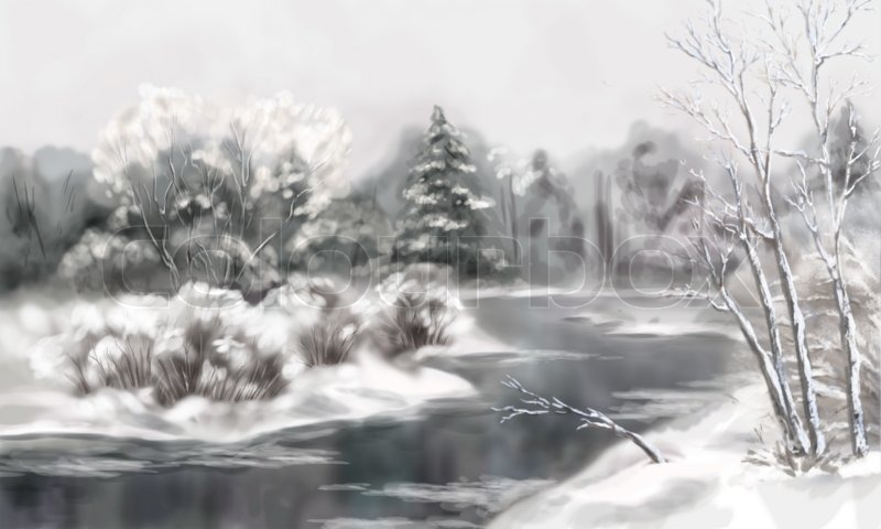How To Paint A Winter Landscape Acrylic